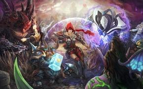 Картинка starcraft, warcraft, sarah kerrigan, Heroes of the Storm, Tyrande, Zagara, Uther, Lightbringer