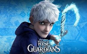Картинка лед, снег, мультфильм, DreamWorks, персонаж, Джек, Rise of the Guardians, Хранители снов, хранитель