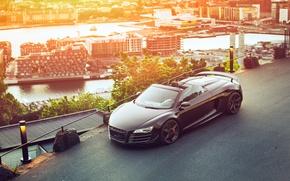Обои car, город, Audi R8, GT Spyder