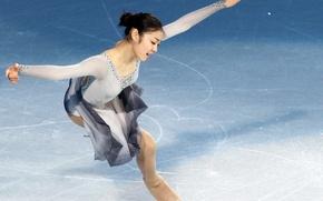 Картинка girl, figure, Yuna, Nice, Kim, Skating, Corea, Olimpic