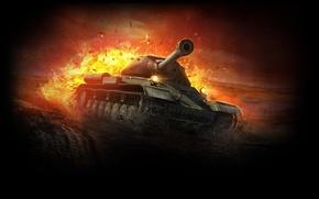 Обои World of Tanks, WoT, ИС-4, Танк