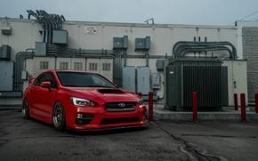 Картинка Subaru, WRX, red, STI