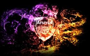 Картинка фиолетовый, оранжевый, красный, Logo, Arsenal, Magic