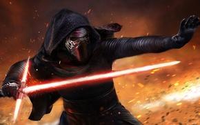 Картинка Star Wars, Movie, Star Wars Episode VII: The Force Awakens, Kylo Ren