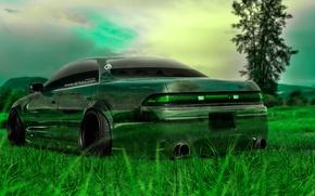 Обои Природа, Green, Тюнинг, HD Wallpapers, Art, Трава, Тойота, Design, Japan, 2014, Авто, Прозрачная, Японец, 90 ...