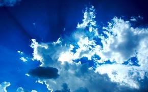 Картинка небо, облака, синий