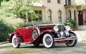 Картинка ретро, фон, Coupe, передок, 1931, Convertible, Duesenberg, SWB, 298 2386, by Murphy