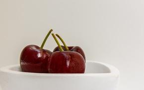 Картинка food, fruit, cherries, dish