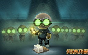 Картинка game, rain, clones, WiiU, Stealth Inc.2