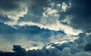 Картинка небо, облака, фон, обои, картинка, изображение, безмятежнось