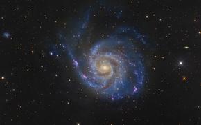 Картинка Галактика, Большая Медведица, в созвездии, Вертушка, M101
