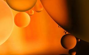 Картинка вода, пузырьки, масло, шарик, воздух