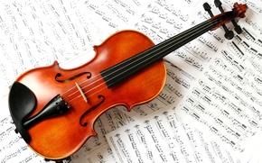 Картинка ноты, скрипка, классика