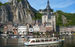 Картинка город, река, набережная, Northern France