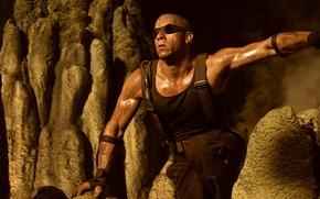 Хроники Риддика,The Chronicles of Riddick,вин дизель, vin diesel, марк синклер винсент, mark sinclair vincent, актёр, сценарист, режиссёр, продюсер, мужчина, мужик, лысый,грязный обои