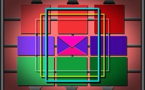 Картинка обои, треугольники, разноцветные, фигуры, прямоугольники