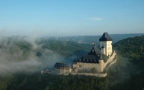Картинка замок, Чехия, Карлштейн, Karlštejn