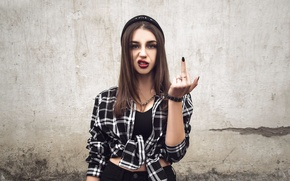 Картинка девушка, жест, Vlada, минусовщику