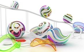 Картинка радуга, spheres, chromatic