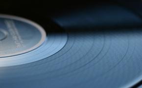 Обои макро, музыка, фон, music, винил, пластинка, macro, vinyl, однотонные