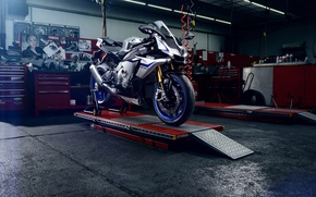 Картинка Yamaha, Carbon, Blue, Racing, Cologne, Superbike, Motocycle, Flare, R1M