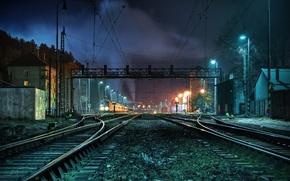 Картинка рельсы, поезд, станция, Station, Train