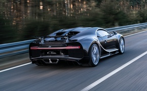 Обои Chiron, Bugatti, бугатти, суперкар, автомобиль, задок