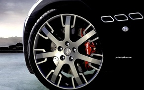 Картинка Maserati, Черный, колесо, Мазерати