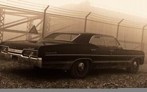 Обои 1967, sedan, supernatural, hardtop, Сhevrolet Impala
