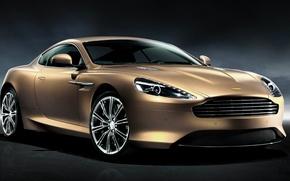 Картинка авто, Aston Martin, светло-корычневый