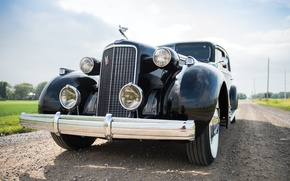 Картинка ретро, Cadillac, вид, Imperial, 1937, passenger