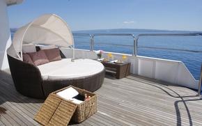 Картинка дизайн, стиль, мебель, интерьер, яхта, палуба, люкс