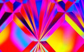 Обои свет, цвет, объем, стекло, кристалл