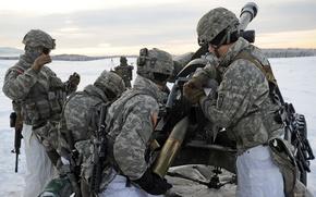 Картинка 105mm, U.S. Army Alaska, artillerymen