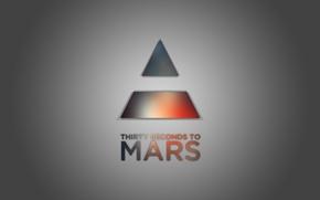 Картинка music, rock, minimalism, 30 seconds to mars, triangle, thirty seconds to mars