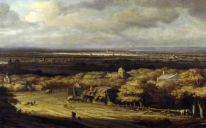 Картинка природа, картина, Панорамный Пейзаж, Конинк Филипс