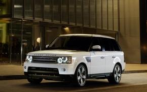 Картинка Вечер, Белый, Спорт, Машина, Машины, Land Rover, Range Rover, Car, Автомобиль, Cars, White, Sport, Автомобили, ...