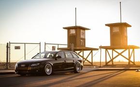 Картинка Audi, black, wagon, avant