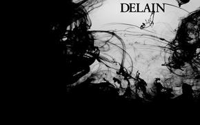 Обои стиль, черное и белое, Delain, музыка