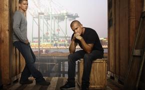 Обои Prison Break, Dominic Purcell, Побег, Michael Scofield, Lincoln Burrows, Доминик Пурселл, Wentworth Miller, Вентворт Миллер