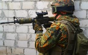 Картинка оружие, солдат, m4a1