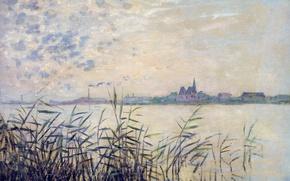 Картинка картина, Клод Моне, Сена возле Аржантёе, пейжаж