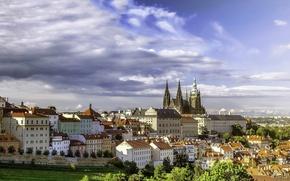 Обои Градчаны, Hradčany, панорама, Прага, Чехия, Prague, здания, Czech Republic