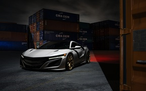 Картинка Front, Supercar, Acura, NSX, Wheels, HRE