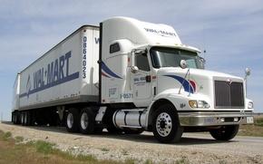 Картинка дорога, фото, грузовик, автопоезд, vehicles, road train, trucks semi