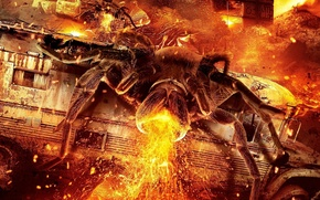 Картинка bus, chaos, spark, attack, movie, city, flame, launch in 2014, giant spider, Lavalantula, animal, death, …
