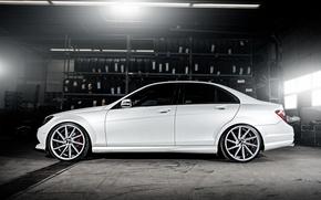 Картинка wheels, side, Mercedes Benz, AMG, C63