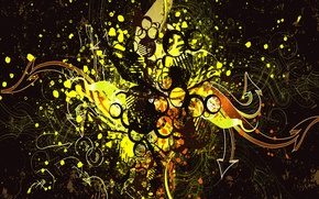 Обои капли, брызги, абстракция, фон, краска, Вектор