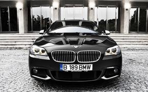Обои cars, auto, Bmw, Photo, обои авто, Bmw m5, вид с переди, cars wall, Бмв m5, ...