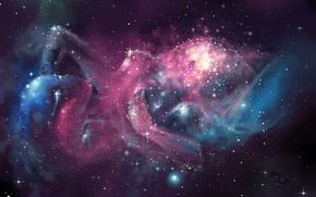 Картинка звезды, Космос, туманности, рождение вселенной